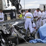 "#3 Audi R18 driven by Allan McNish Crashed outside ""The Esses"" ending their Race"
